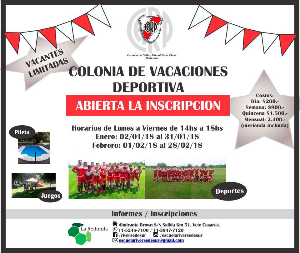 River Plate Sede Sur - Colonia