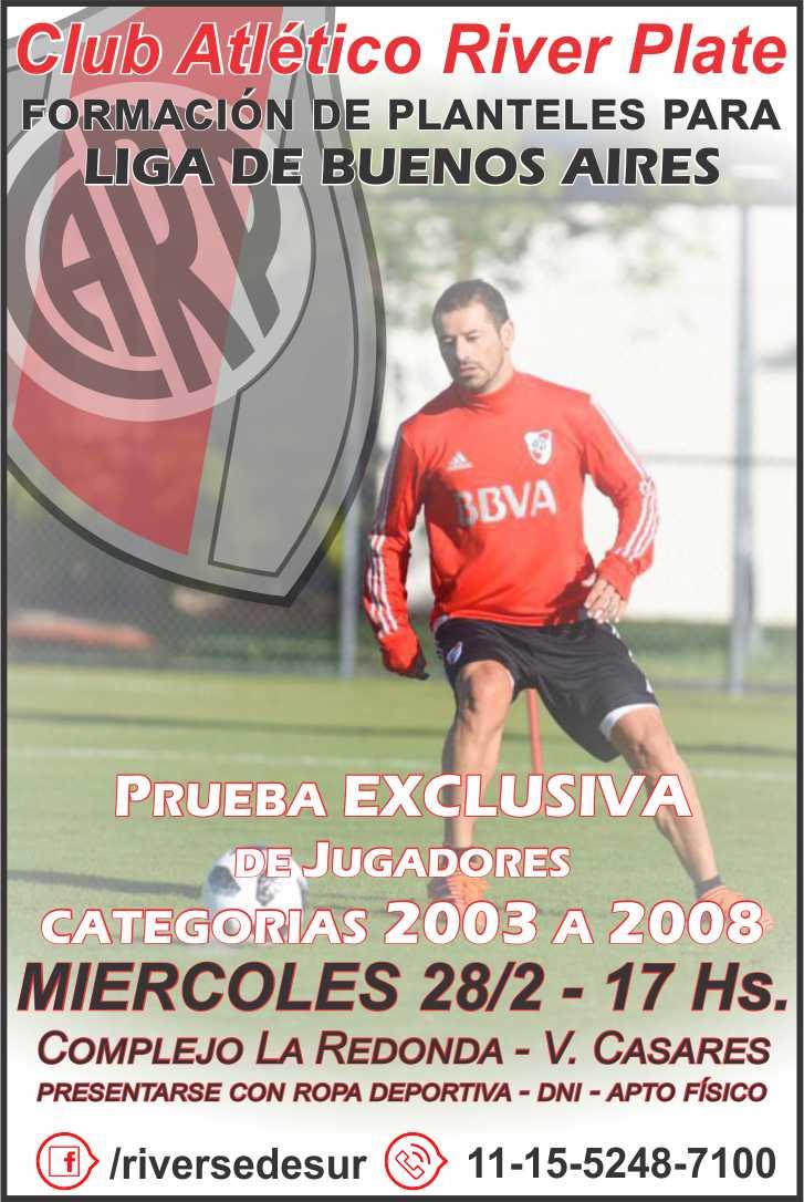 River Plate Sede Sur - Prueba de Jugadores